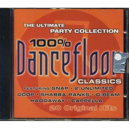 100%25 Dancefloor - Snap/2 Unlimited/Cappella/Haddaway Cd