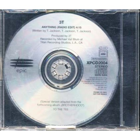 3T/Michael Jackson - Anything Promo Cd