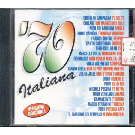 70 Italiana - Collage/Franco Simone/San/To California/Pooh/Marcella Cd