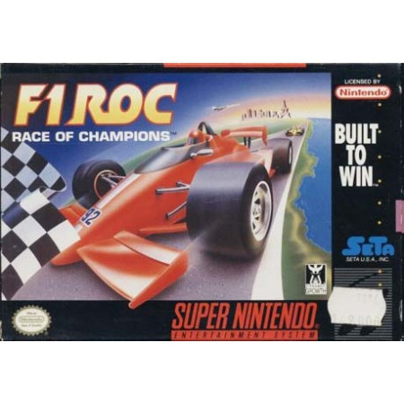 F1 Roc Race Champions Snes Nintendo Ntsc User'S Guide & Excellent Condition Box