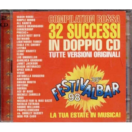 Festivalbar 1998 Red - Vasco/Litfiba/Elisa/Grignani/Soerba 2x  Cd