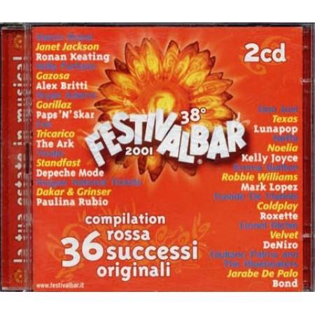 Festivalbar 2001 Red - Vasco/Depeche Mode/Bon Jovi/Coldplay 2x Cd