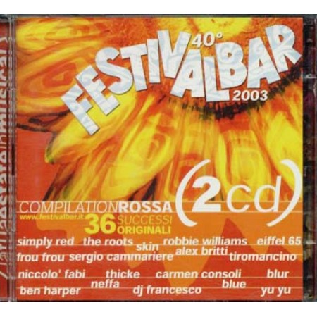 Festivalbar 2003 Rossa - Consoli/Neffa/Eiffel 65/Tiromancino/Ben Harper 2x cd