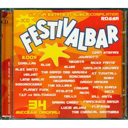 Festivalbar 2005 Red - The Killers/Elisa/Moby/Planet Funk/Jovanotti 2x Cd