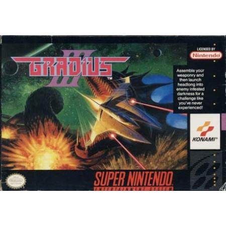 Gradius Iii Snes Nintendo Ntsc User'S Guide & Very Good Condition Box