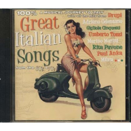 100%25 Great Italian Songs - Modugno/Endrigo/Celentano/Milva/Dallara Cd