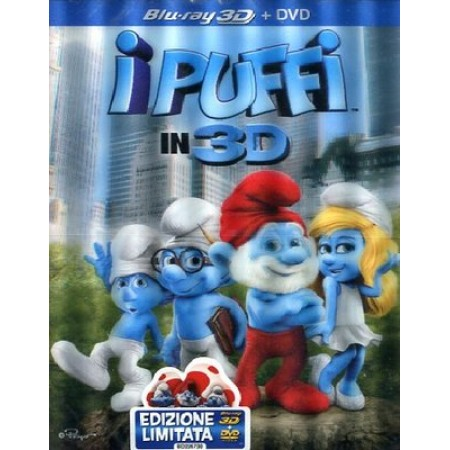 I Puffi 3D Cover Ologramma Blu Ray + Dvd