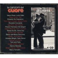 Le Canzoni Del Cuore 80 - Vasco/Dalla/De Gregori/Bono/U2/Oxa Box 4X Cd