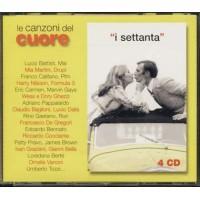 Le Canzoni Del Cuore 70 - Pravo/Berte'/Rino Gaetano/Pfm/Ghezzi/Dalla Box 4X Cd