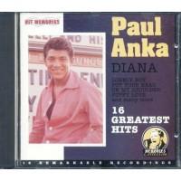 Paul Anka - Diana 16 Greatest Hits Cd