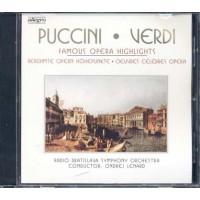 Puccini/Verdi - Famous Opera Highlights Cd