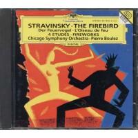 Stravinsky - The Firebird 4 Studies Boluez Chicago Symphony Cd