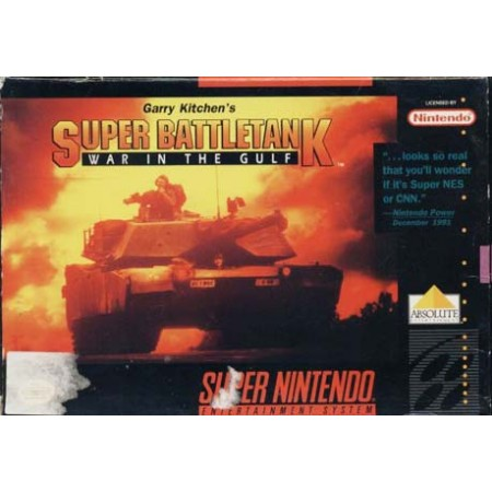 Super Battletank War In The Gulf Snes Nintendo Ntsc User'S Guide & Excellent Box