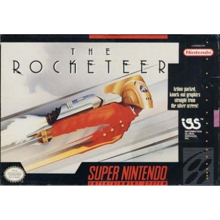 The Rocketeer Complete Snes Nintendo Ntsc User'S Guide & Excellent Condition Box