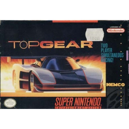 Top Gear Snes Nintendo Ntsc User'S Guide & Excellent Condition Box